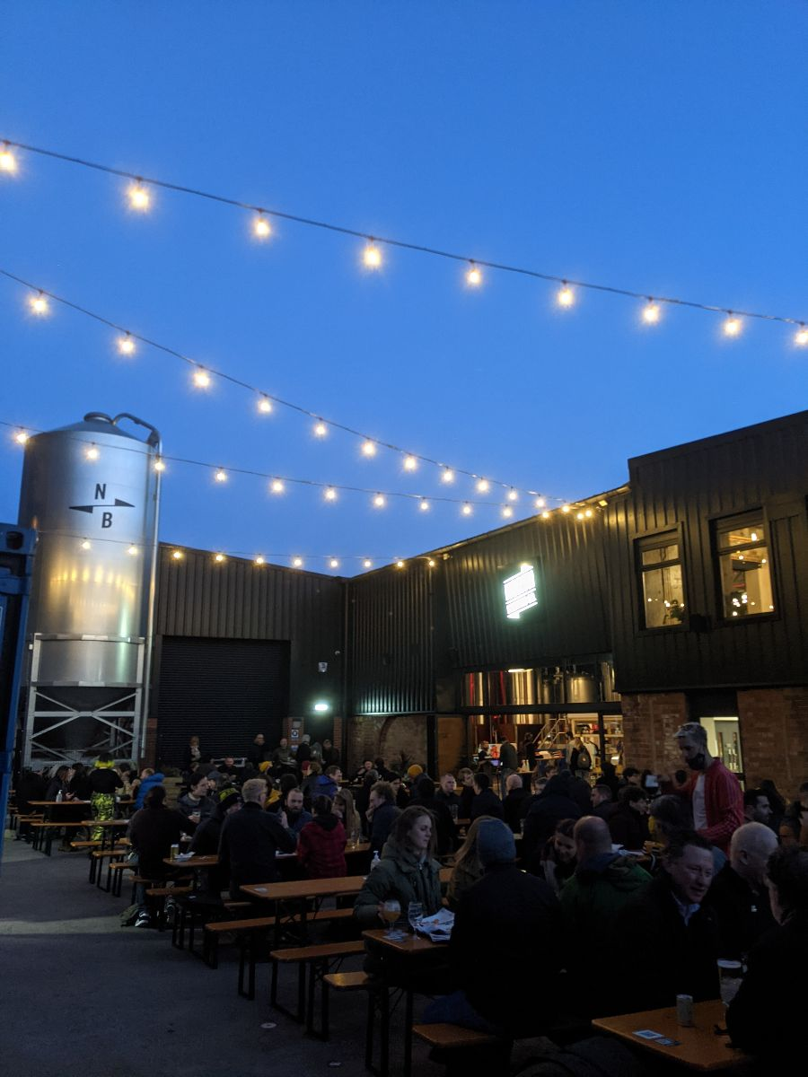 This image has an empty alt attribute; its file name is North-Brewing-Co-at-night.jpg
